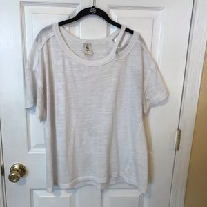 Free People Off the Shoulder T shirt Small